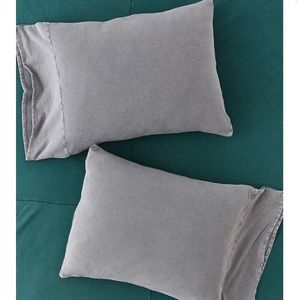 2 Urban Outffiters Ribbed Pillow Cases in Blue